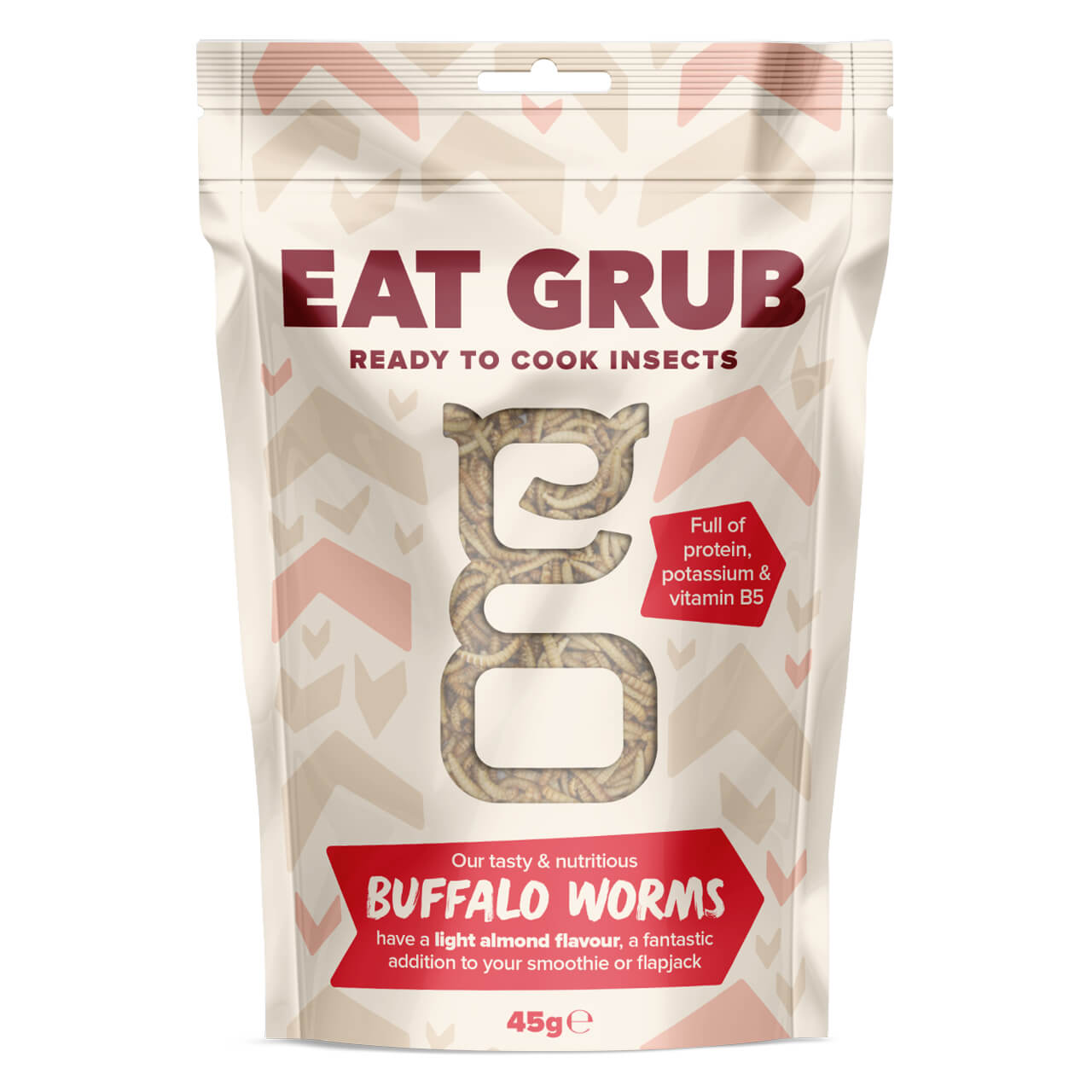 Eat Grub クッキングシリーズBIG バッファローワーム 45g