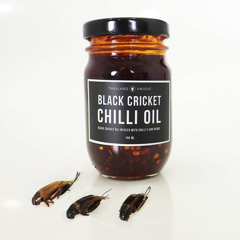 フタホシコオロギ チリオイル 100ml(Black Cricket Chilli Oil)