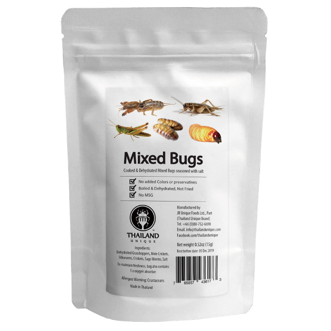 Mixed Bugs 15g(昆虫ミックス�15g) (5種類)
