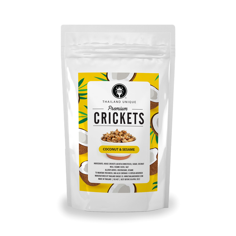 Premium CRICKETS (ココナッツ&セサミ味)15g ×10袋