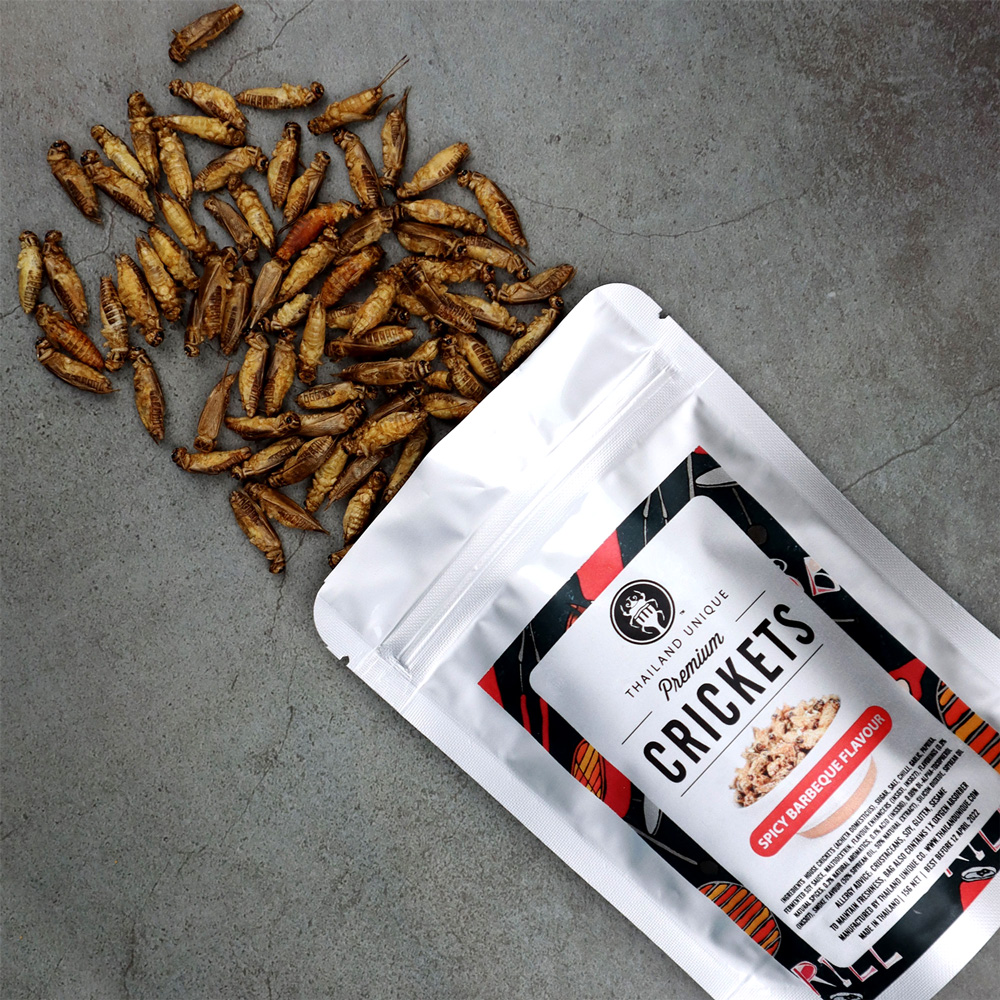 Premium CRICKETS (スパイシーBBQ味)15g ×10袋
