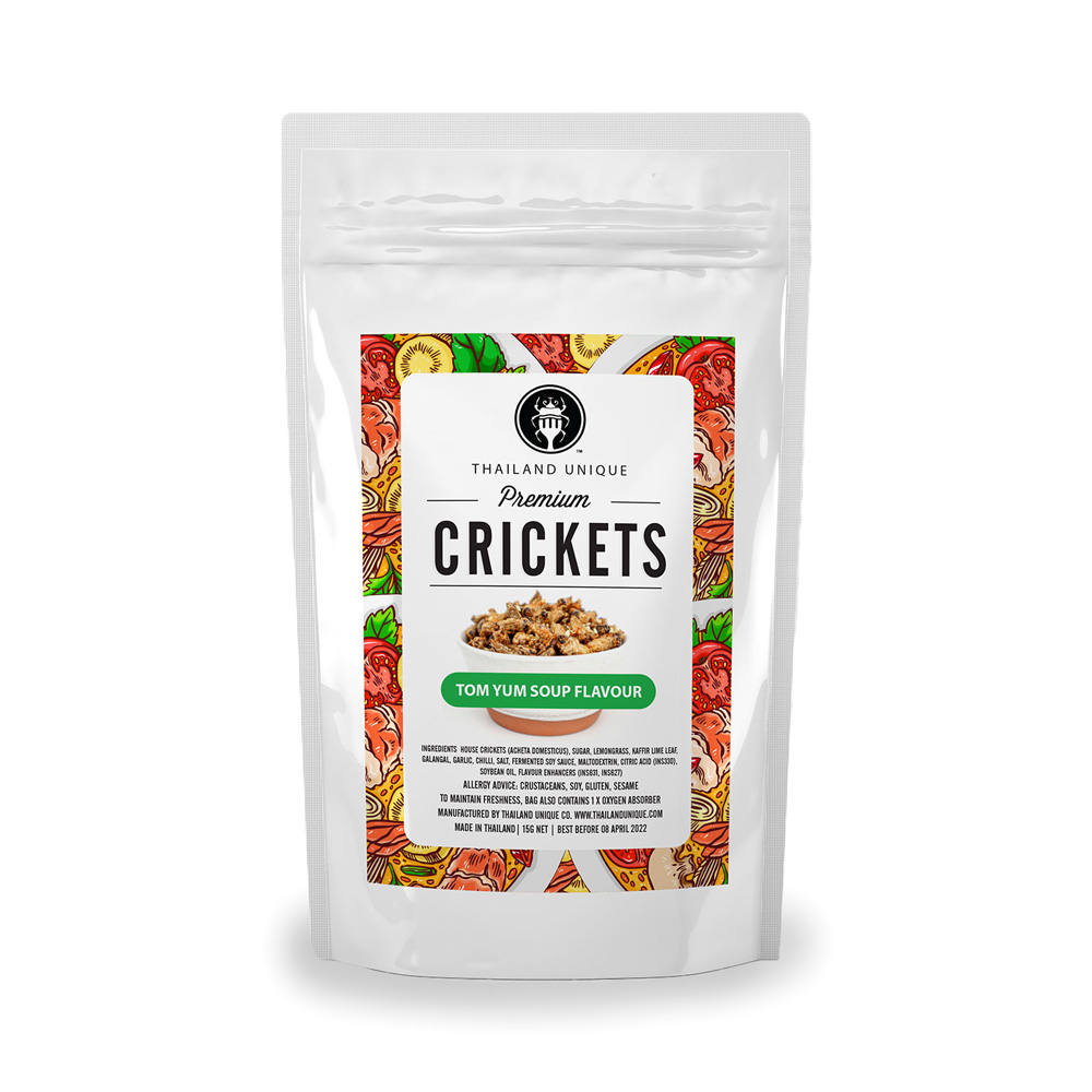 Premium CRICKETS (トムヤムスープ味)15g ×10袋