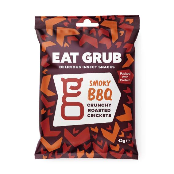 Eat Grub クランキー ロースト クリケット BBQ 1ケース12袋入 x 18ケース