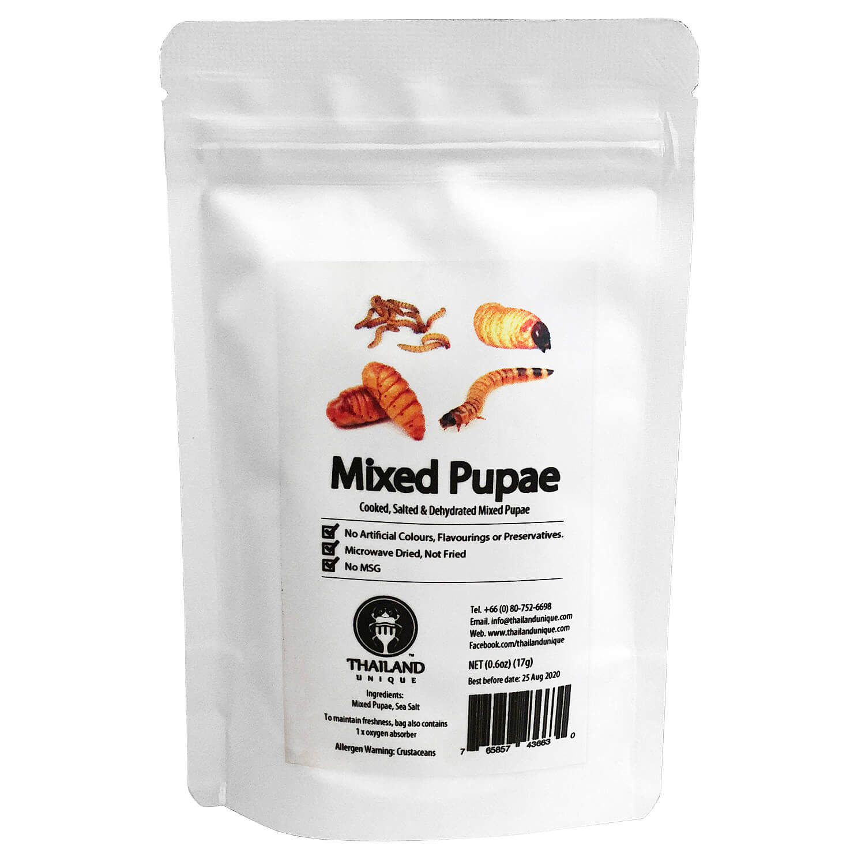 Mixed Pupae2 17g(サナギ,幼虫ミックス2 17g)x 10袋
