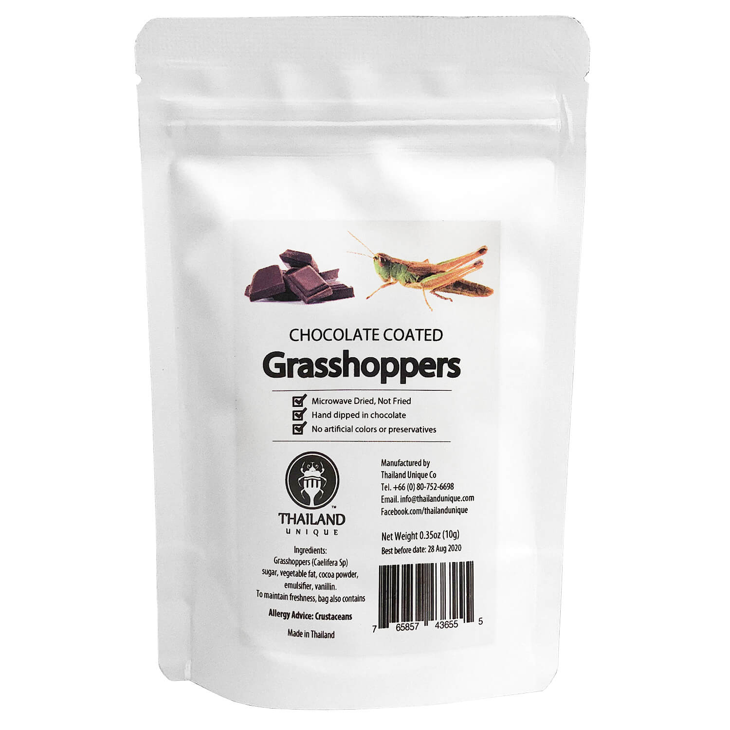 Chocolate coated grasshoppers(チョコレートグラスホッパー)   x  10袋