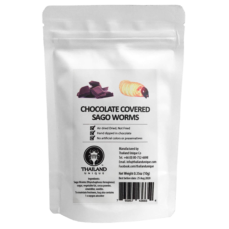 Chocolate coated Sagoworms(チョコレートサゴワーム)  x  10袋