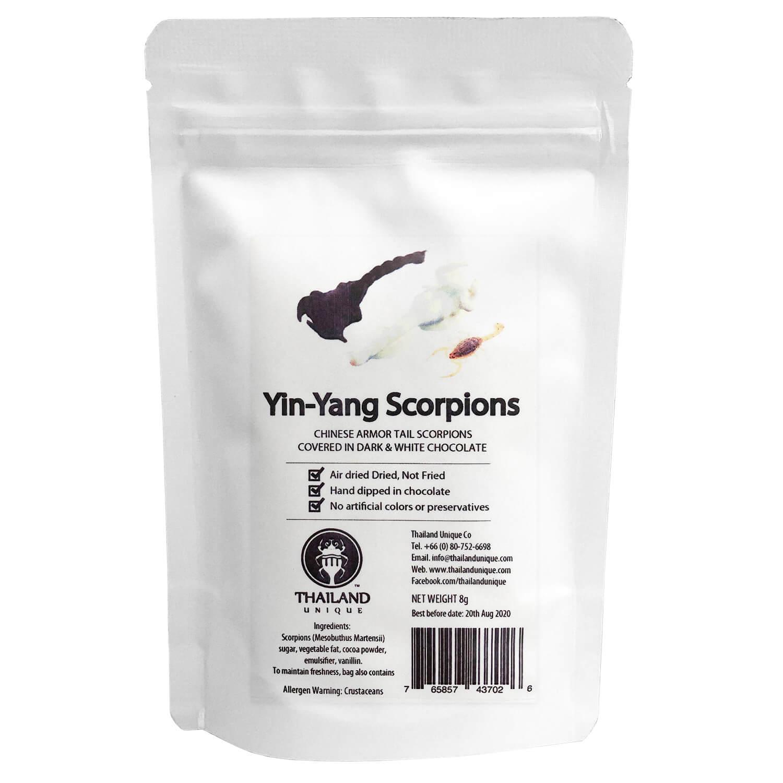 Yin Yang Scorpions (陰陽サソリ(ホワイトチョコサソリ×ブラックチョコサソリ)   x  10袋