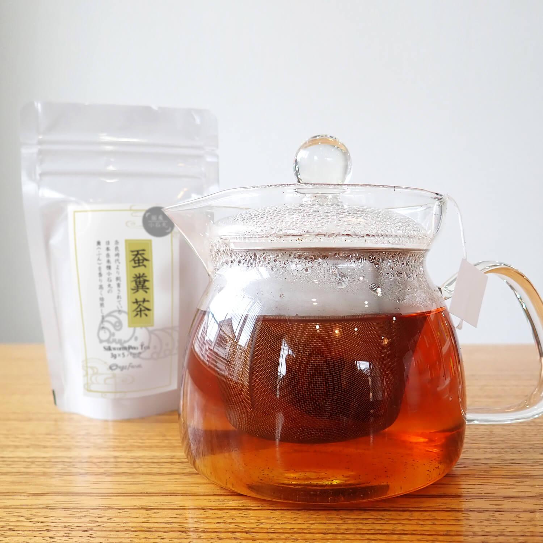 【国産 蚕 小石丸】蚕糞茶 3g x 5パック(15g)