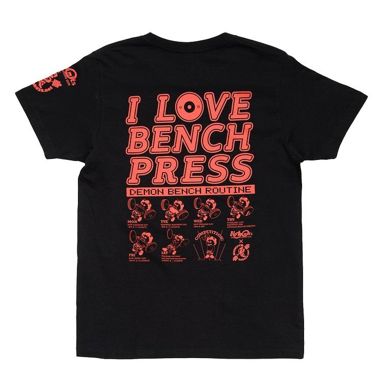 鬼×アイラブベンチプレスTシャツ