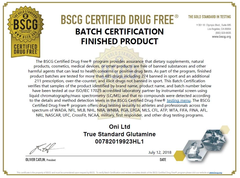 GLUTAMINE グルタミン 全ロットアンチ・ドーピング認証取得 500g 送料無料