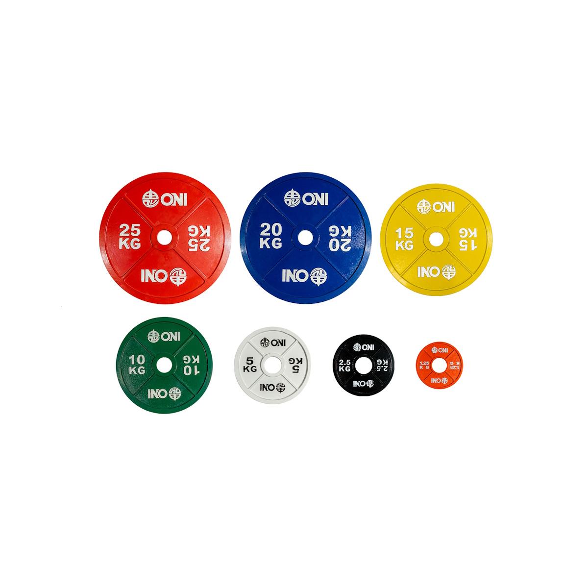 【予約販売】ONI パワーリフティングプレート 25kg 20kg 15kg 10kg 5kg 2.5kg 1.25kg 0.5kg 0.25kg 2枚1セット