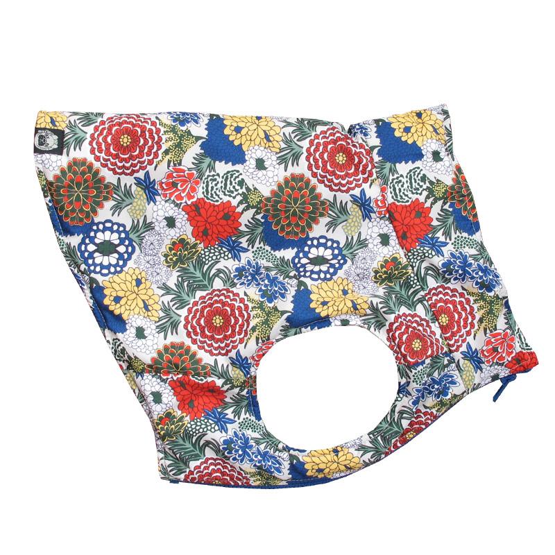 アジアンな花々中綿ベスト【一着のみメール便可】
