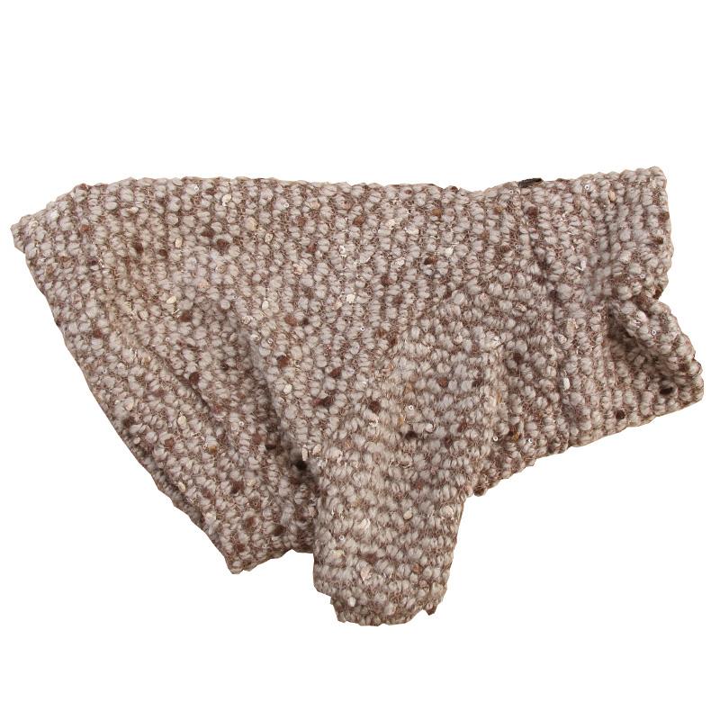 ツイードっぽいセーター(モカ)【一着のみメール便可】