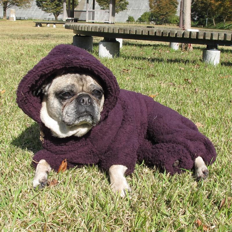 着る毛布フード付つなぎ(ダークパープル)【メール便不可】