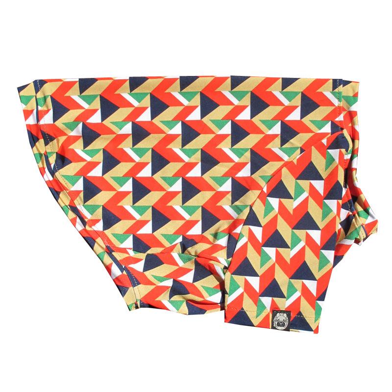 幾何学プリントTシャツ【Tシャツ2着orタンクトップ1着×Tシャツ1着はメール便可】