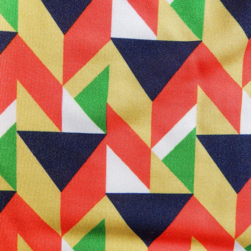 幾何学プリントタンクトップ【Tシャツ2着orタンクトップ1着×Tシャツ1着はメール便可】