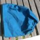配色ファスナーレインコート(ピーコックブルー)&スヌードフード【単品メール便可/スヌードフードとの同梱メール便可】