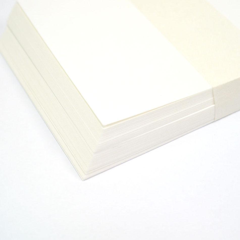 木版画用和紙はがき �3 耳なし楮(こうぞ) 白 50枚入