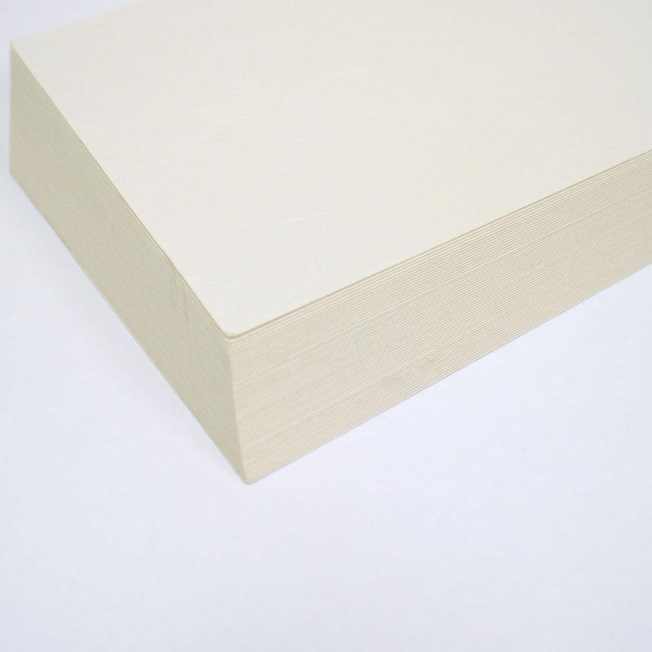 木版画用和紙はがき �2 耳なし楮(こうぞ) 未晒(みざらし) 50枚入