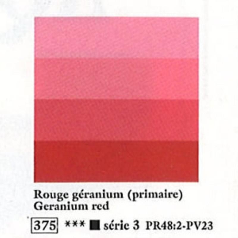シャルボネール アクアウォッシュ 60mlチューブ 375 ゼラニウムレッド