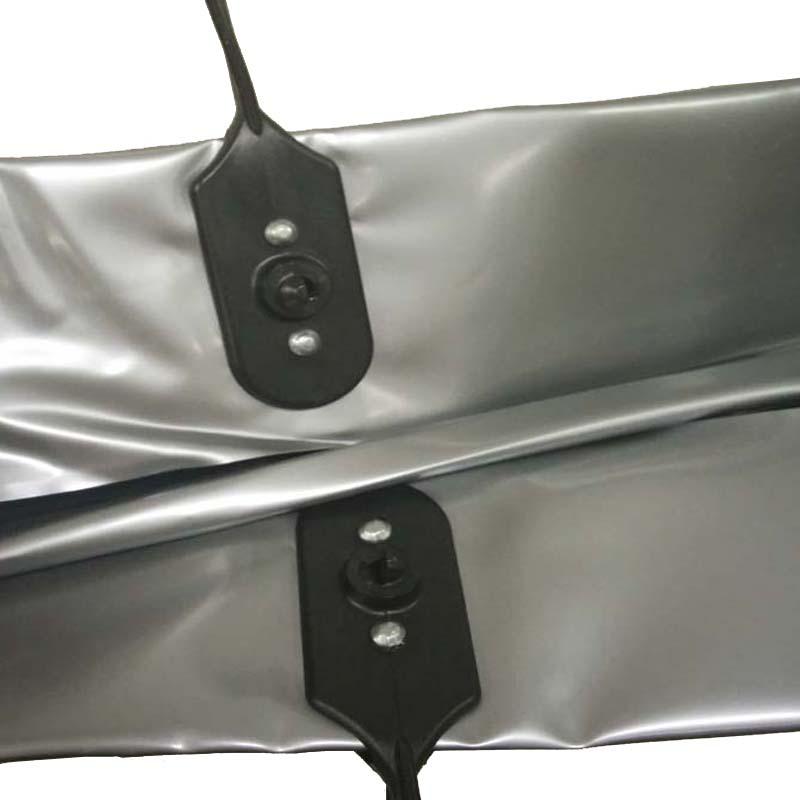 パネル バッグ ビニール製シルバーB3