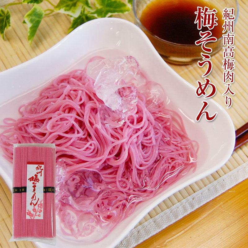 紀州 南高梅肉入 手延べ 梅そうめん 250g 手延べ そうめん 梅肉入り 素麺 ※めんつゆは別売りです