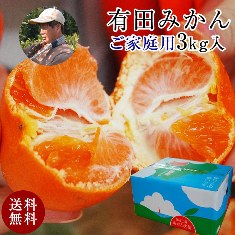 森さんの有田みかんご庭用3kg