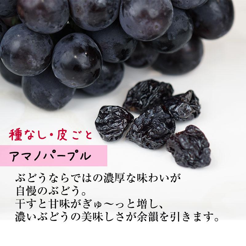 無添加 国産干しブドウ(干し蒲萄)50g<br>シャインマスカット等種なし、皮ごとぶどうのみ。干しぶどう<br><br>ドライフルーツ 砂糖不使用<br>贅沢なレーズン ワインのおつまみにも!
