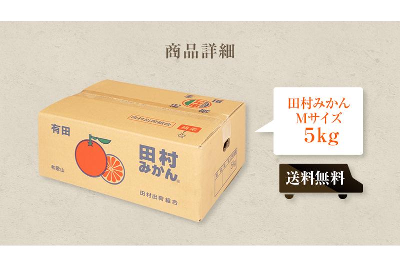 お歳暮 ギフト 贈り物 田村みかん Mサイズ 5kg<BR>送料無料(北海道、沖縄を除く)<BR>有田みかんの最高ブランド!<BR>贅沢な美味しさを是非!お歳暮にも人気のミカンです。マツコの知らない世界