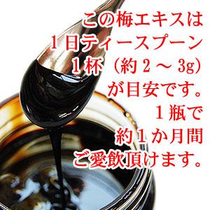 紀州梅エキス(液状)100g <br>完全無添加・塩分ゼロ!クエン酸の宝庫!<br>紀州南高梅100%使用