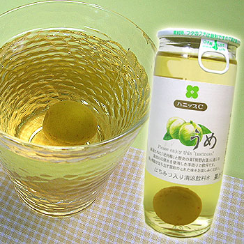 紀州産 ハニップCうめ(200g×15本入)<br><br>【送料無料】<br>りんご果汁とハチミツ入りのさわやかドリンク!<br>甘酸っぱさが お口の中に広がる<br>梅の実入りのストレートタイプの梅ジュースです。