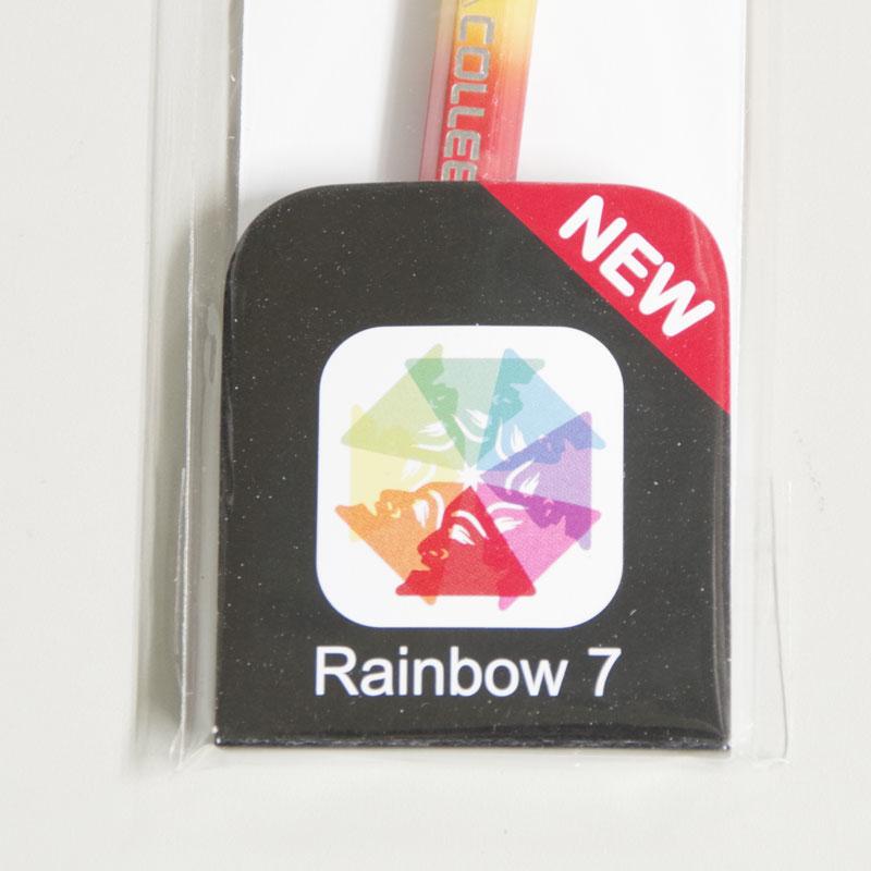 コーリン鉛筆 レインボー色鉛筆 キャップ付き 六角 虹色 画材 グラデーション