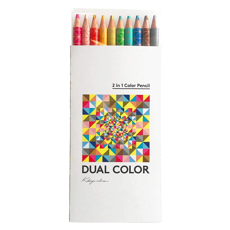 コクヨ 色鉛筆 DUAL COLOR 10色 KE-SP13 2色色鉛筆 クリエイティブ プレゼント 名入れ