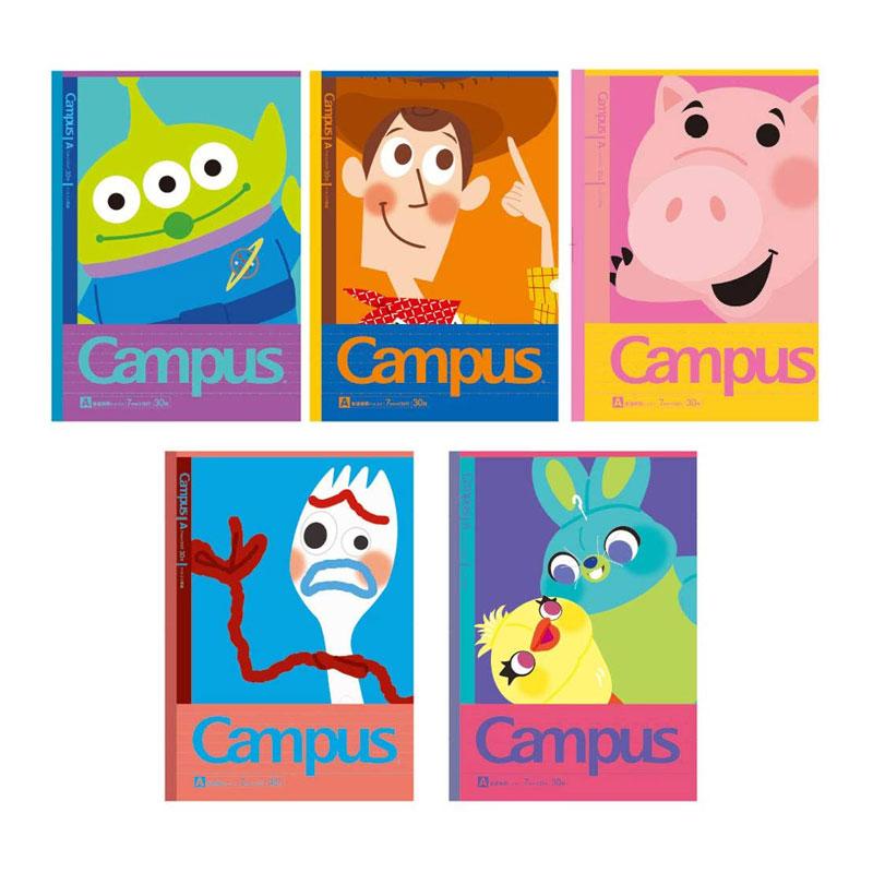 サンスター文具 キャンパスノート ドットA罫5冊パック トイ・ストーリー さらに使いやすくなったKOKUYOドットブランドとコラボレーション