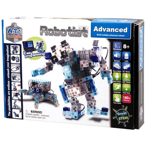Artecブロック RoboTIST Advanced 創造性を育む本格化ブロック 想像力次第でどんなロボットも作れるフルセット 知育玩具 プレゼント プログラミング