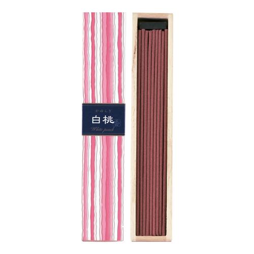 【ギフトに最適】日本香堂のお香 澄んだ甘みがフレッシュな白桃の香りです。 かゆらぎ 白桃(はくとう) スティック40本入