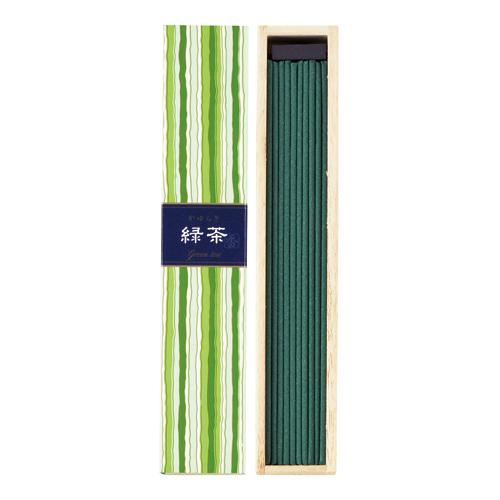 【ギフトに最適】日本香堂のお香 清涼でなめらかな緑茶の香りです。 かゆらぎ 緑茶(りょくちゃ) スティック40本入