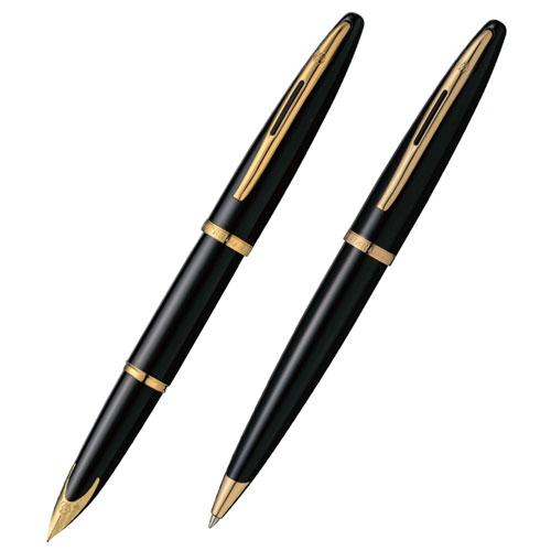 まるで海原をすべり行く船のように繊細で優美なライン ウォーターマン カレン ブラック・シーGT 万年筆・ボールペンセット