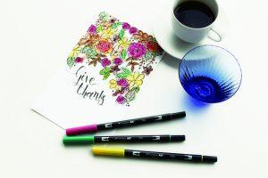 アートを彩る、本格グラフィックマーカー トンボ鉛筆 水性マーキングペン ABT12色セット パステル