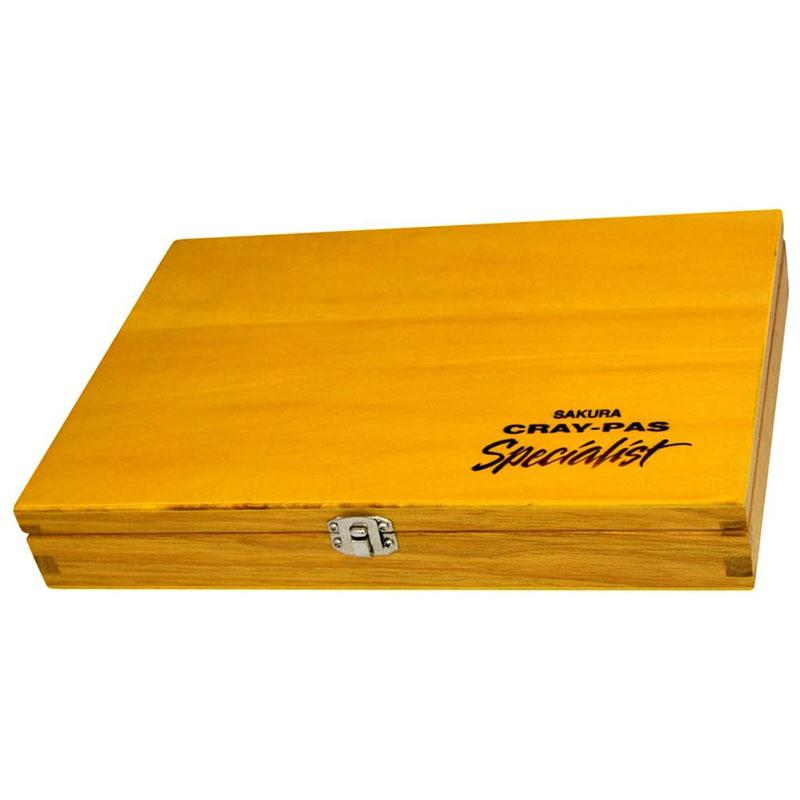 サクラクレパス クレパス スペシャリスト 85色 88本入り 木箱 専門家 画材 高級顔料 角型 プレゼント 美術