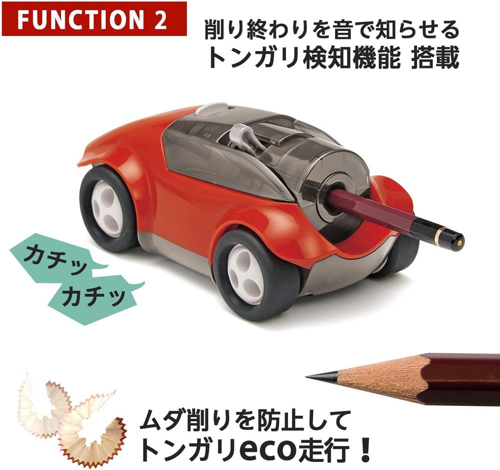 プラス 鉛筆削り ハシレ!エンピツケズリ! ミニカー インテリア キッズ プレゼント 男の子 FS-660
