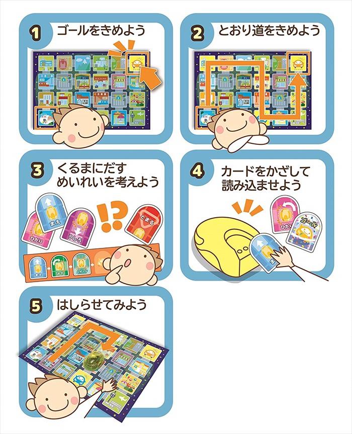 学研ステイフル カードでピピッと はじめてのプログラミングカー 知育玩具