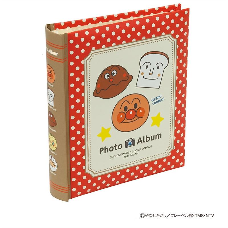 子供たちに絶大な人気のアンパンマンシリーズ ナカバヤシ 背丸ブック式ポケットアルバム2段 レッド