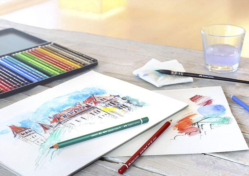 ファーバーカステル アルブレヒト・デューラー 水彩色鉛筆 60色 缶入り 六角 名入れ グラフィックアート プロ 高品質 プレゼント 大人のぬりえ 色鉛筆画