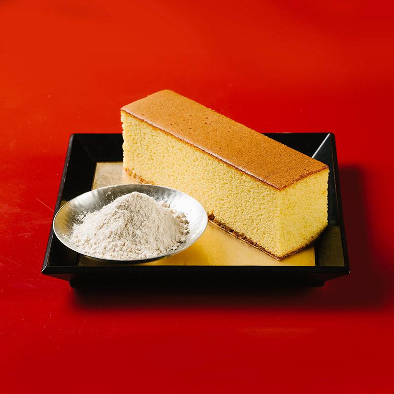 三種類の特撰カステラ 3本入 和三盆とお濃茶と黒糖[お盆手土産好適品]