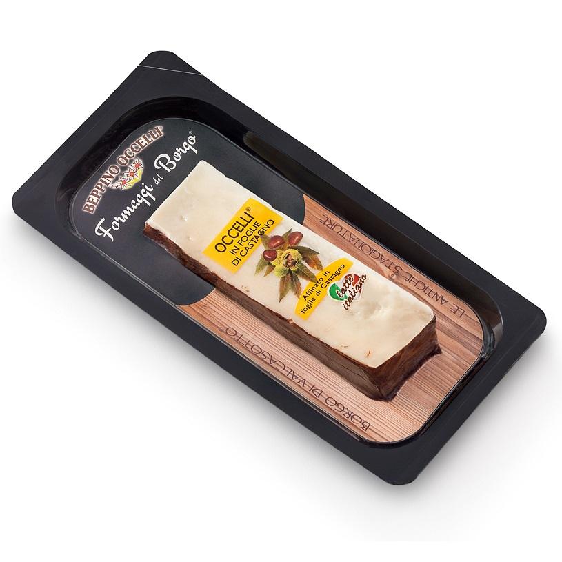 ベッピーノオッチェリ 栗の葉でくるんだチーズ (80g)