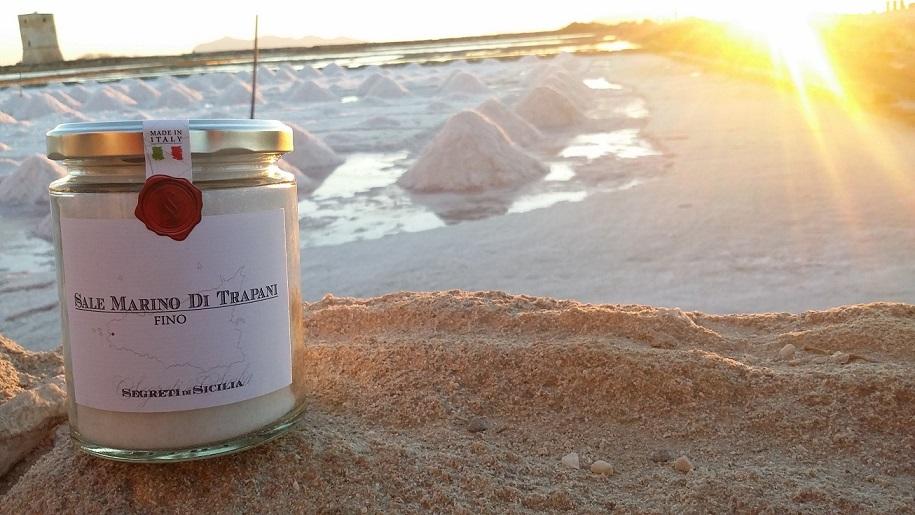 シチリア産天然海塩 FINO(細粒) 320gシーソルト <br>★海塩なのでミネラル・マグネシウムが多く含まれ大変美味★