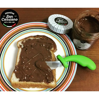 【40%引きセール】ココアとヘーゼルナッツのペースト  200G <br>★ ピエモンテの美味しいヘーゼルナッツ入り。<br>★ケーキやアイスクリーム、パンの上にのせて