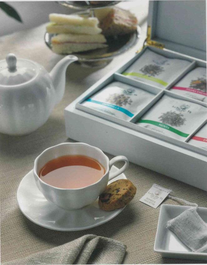 ≪LA VIA DEL TE≫ コットン ティーバッグ。15個入り。(コットン全種類入り)<br>★お試しやプレゼントに!<br>★イギリスのハロッズでも販売、雑味の無い最高品質のお茶