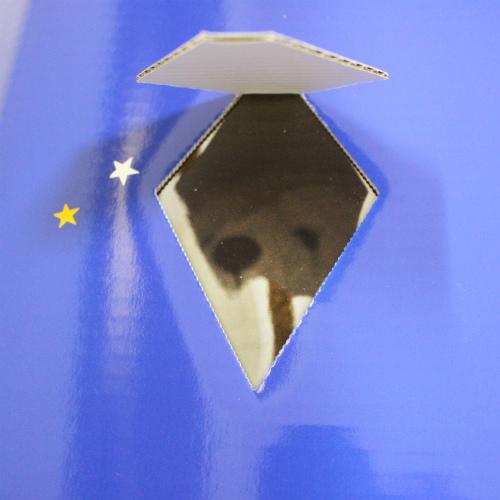 【 ペット仏具 】【 ペット葬儀 】 ペット棺 星 スター (大) セット ブルー 【 小型犬 中型犬向き 】<br>【 仏具 仏壇 】【 お悔やみ お見送り 】【 棺 】【 犬 猫 ペット供養 】